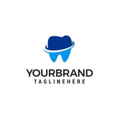 dental care logo design concept template vector