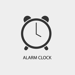 Alarm vector icon illustration sign