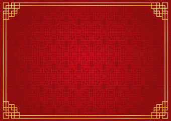 chinese new year background, abstract oriental wallpaper, red window inspiration, vector illustration