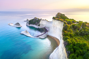Beautiful view of Cape Drastis in Corfu in Greece Fototapete