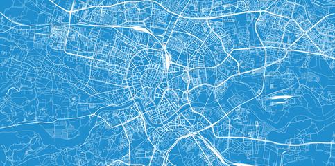 Fototapeta Urban vector city map of Krakow, Poland obraz