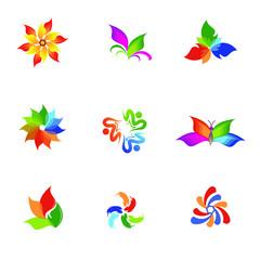 Poster Geometric animals set of design elements