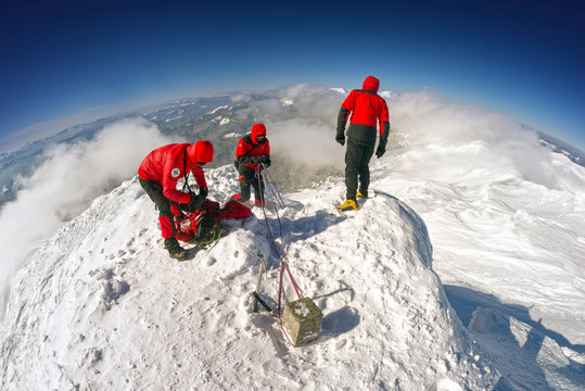 training of climbers on top