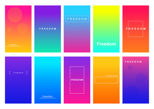 Freedom social media stories duotone template set