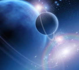 Fototapete - Exo-Solar Planet