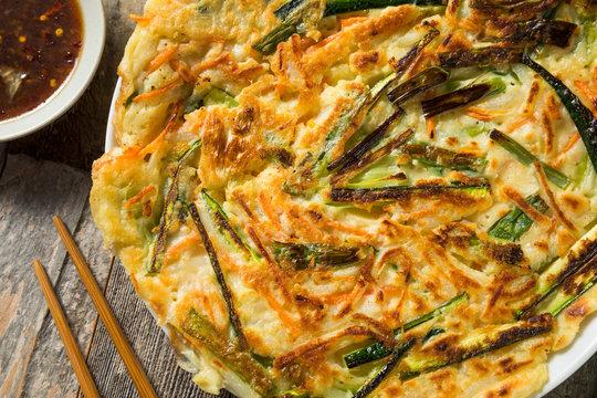 Homemade Korean Pajeon Scallion Pancakes