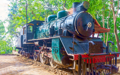 Old steam locomotive.