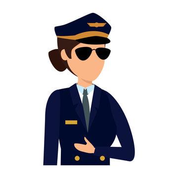 female aviation pilot avatar character