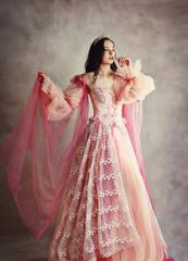 Garden Poster princess peach pink dress