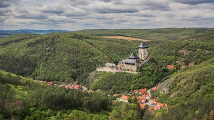 Aerial view of Karlstejn Castle