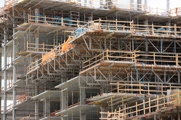 Stock photo industrial scaffolding construction site