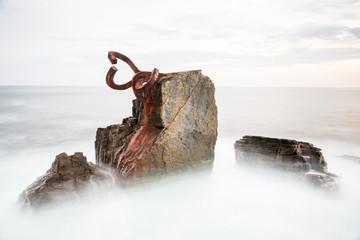 """""""Peine de los vientos"""" in San Sebastian, Spain."""