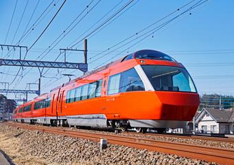 Foto auf Gartenposter Eisenbahnschienen 小田急70000形 GSE
