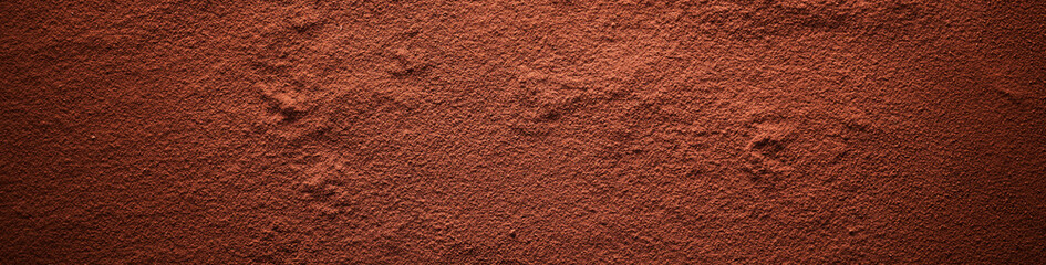 Cocoa powder surface banner