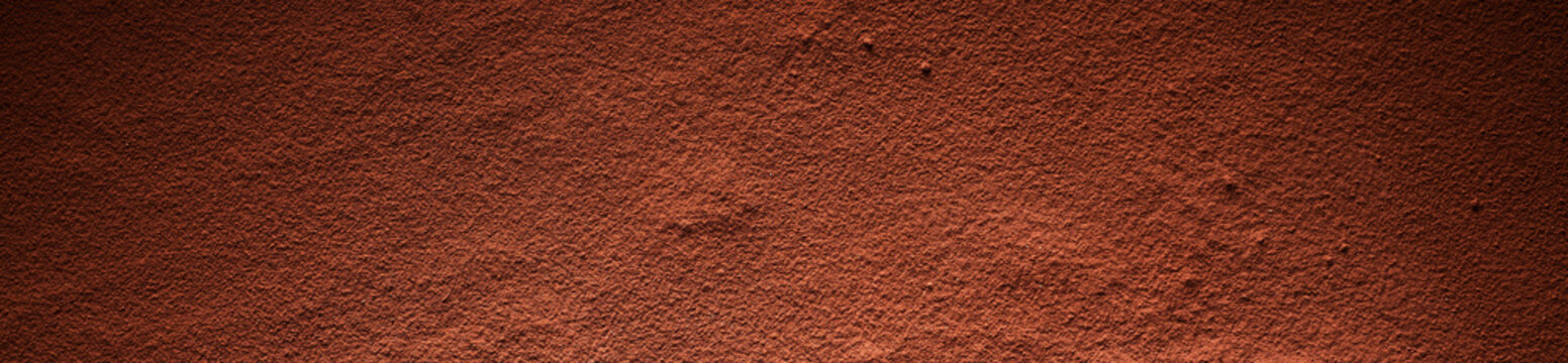 Full frame of cocoa powder surface