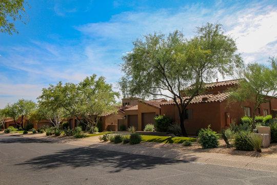 Southwest style homes in Phoenix Arizona