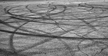 Burned Tire Marks