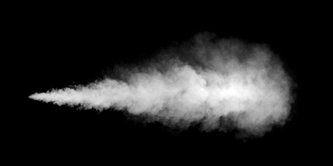 white smoke texture on black background Wall mural