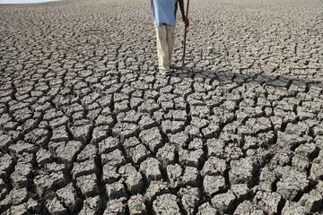 NAGPUR MAHARASHTRA INDIA 20TH MAY 2019 25KM Away from city Veena Dam water dry,this time temperature is high in vidharbha in maharashtra.