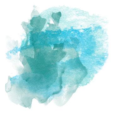 Abstract blue watercolor splash design, editable, versatile