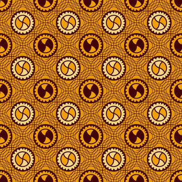 Textile fashion ethnic colorful print. Seamless texture