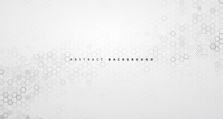 The abstract background of molecular structure and graphic design of technology sense.