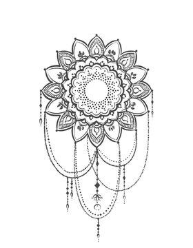 mehndi template illustration