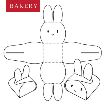 Package template for bakery food or Other items.