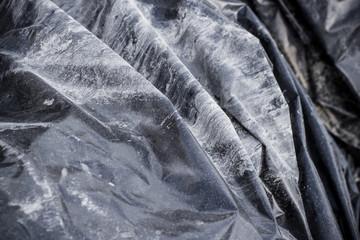 Black old plastic bag