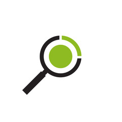 Magnifying glass for search icon vector template