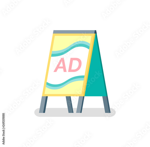 Advertising or ad, design of reclaiming placard, vertical