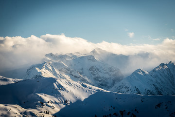 Die Berge von Saalbach Hinterglemm