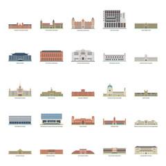 Universities Illustrations Set