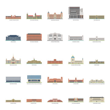 Universities Illustrations Set