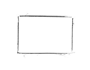 Handgemalter Rahmen mit schwarzer Farbe