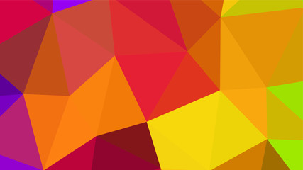 Abstract geometric triangle background, art, artistic, bright, colorful, design. Mosaic, color background. Mosaic texture. The effect of stained glass. EPS 10 Vector