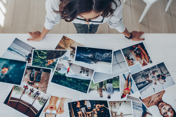 Choosing the best image from the photoshoots Wall mural