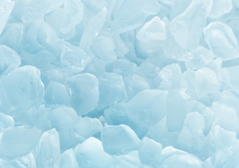 Crystal blue ice background