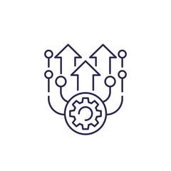 upgrade vector line icon