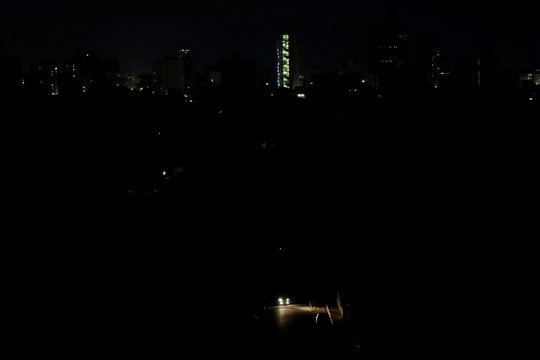 A general view of a neighborhood during a blackout in Maracaibo
