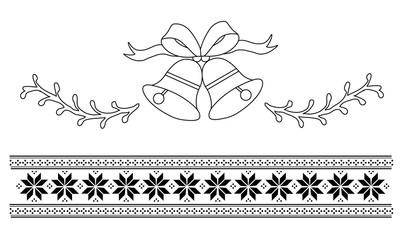 Weihnachten Ornamente und Borte