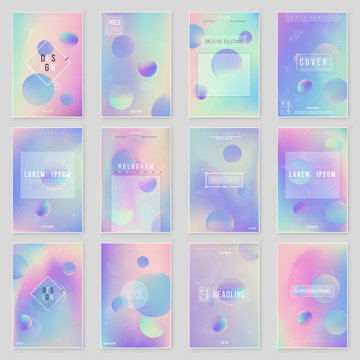 Abstract blurred Holographic gradient background