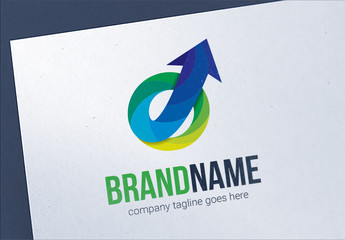 Abstract Gradient Arrow Growth Logo Layout