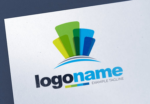 Abstract Colorful Corporate Logo Layout