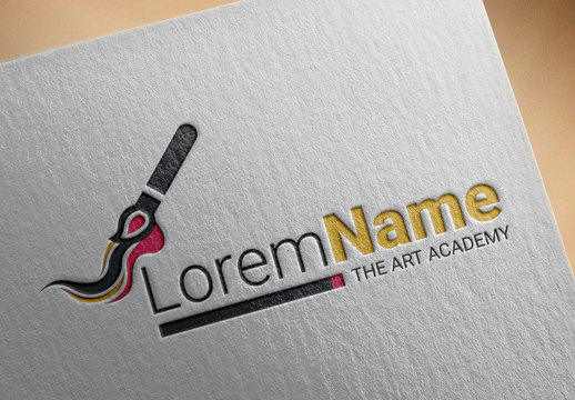 Abstract Logo Layout with Paintbrush