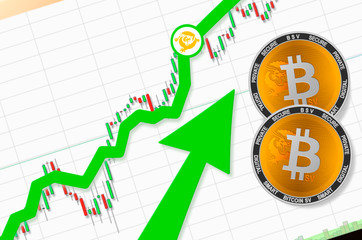 Bitcoin SV (BSV) going up; bitcoin sv cryptocurrency price up; place for text (price)