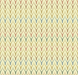 Seamless ethnic textile seamless vector pattern. Geometric thin zig zag native print. Folk mexican ornament. Ancient african style design. Simple line retro color background. Childrens chevron cloth.