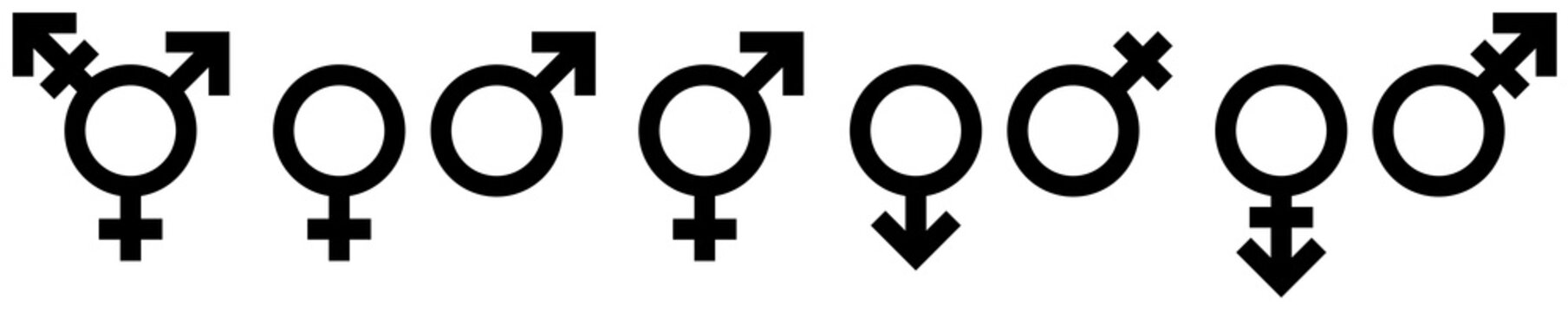 Icons Geschlechter Schwarz