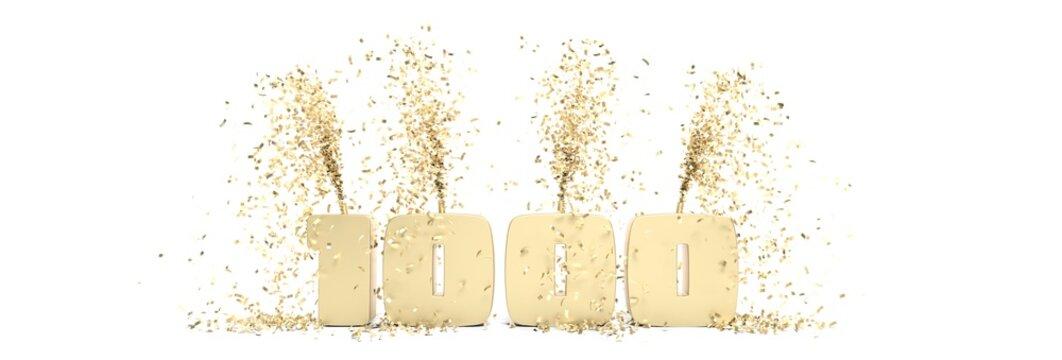 fêter 1000 abonnés sur les réseaux sociaux