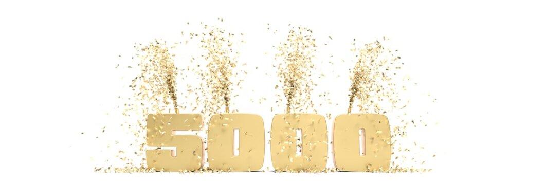 fêter ses 5000 abonnés sur les réseaux sociaux